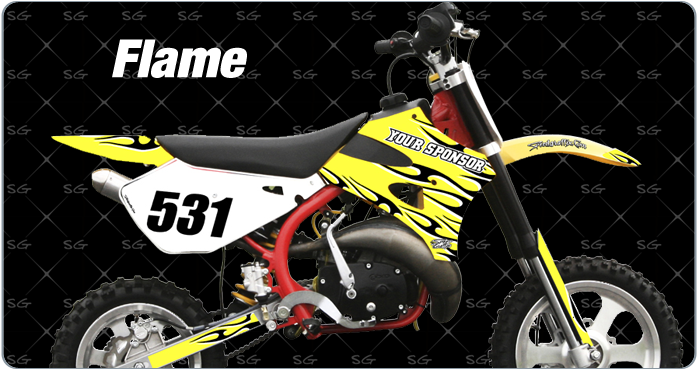 Cobra Flame Motocross Graphics