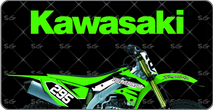 Motocross Graphics Kits For Kawasaki