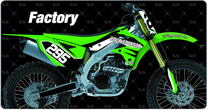 factory motocross graphics for kawasaki