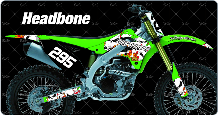 headbone dirtbike graphics for kawasaki