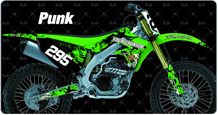 Motocross graphics pre made punk style dirt bike graphics