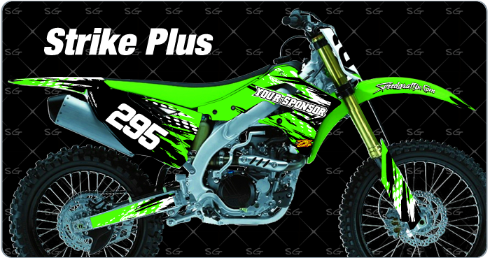 strike plus kawasaki motocross graphics