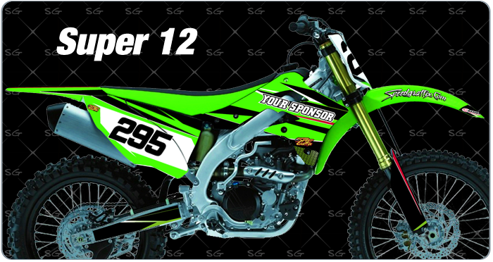 super 12 Kawasaki Motocross Graphics