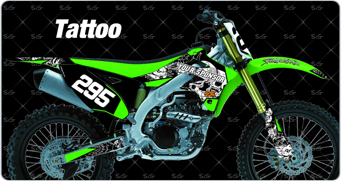 kawasask tattoo motocross graphics