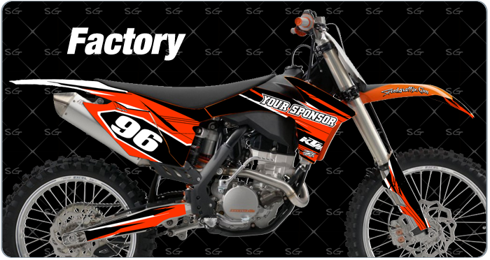 factory motocross graphics for ktm