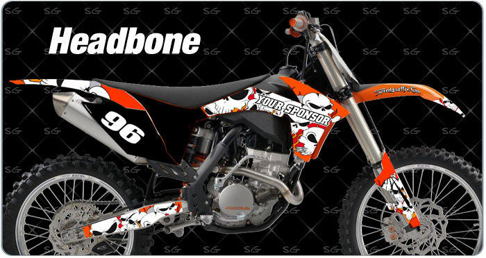 headbone dirtbike graphics for KTM