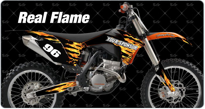 real-flame motocross graphic kit for KTM