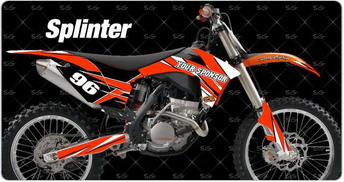 splinter pre-made motocross graphic kits ktm