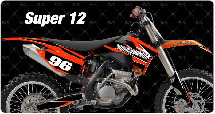 super 12 ktm Motocross Graphics