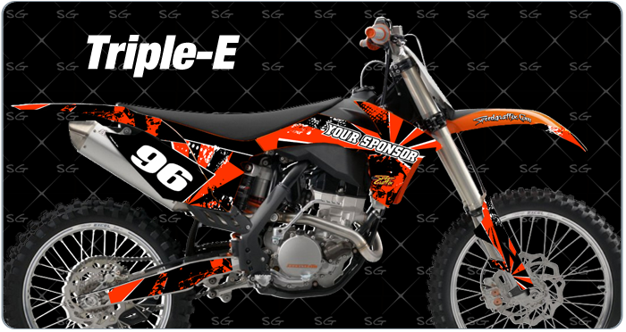 triple-e motocross graphic kit ktm