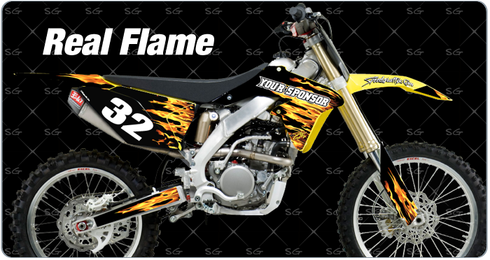 realflame suzuki dirtbike graphics kit