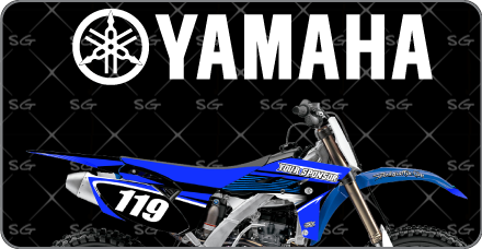 Yamaha Pre-Made Motocross Graphic Kits