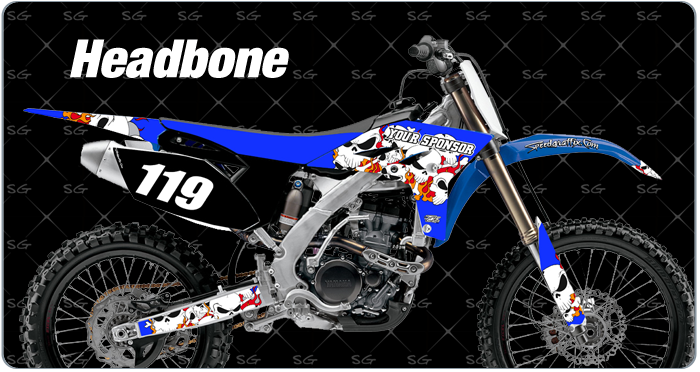headbone motocross graphics. dirtbike graphics kit made for yamaha dirt bike