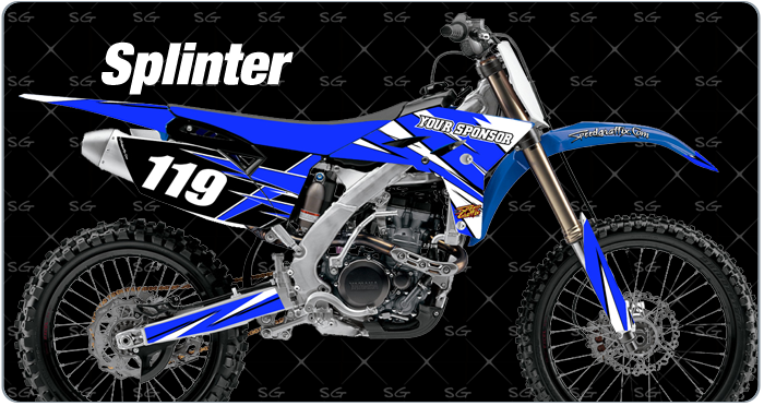 splinter motocross graphics. dirtbike graphics kit made for yamaha dirt bike