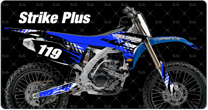 strike plus motocross graphics. dirtbike graphics kit made for yamaha dirt bike