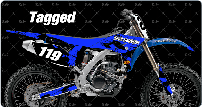 tagged motocross graphics. dirtbike graphics kit made for yamaha dirt bike