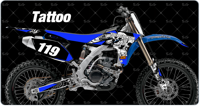 tattoo motocross graphics. dirtbike graphics kit made for yamaha dirt bike