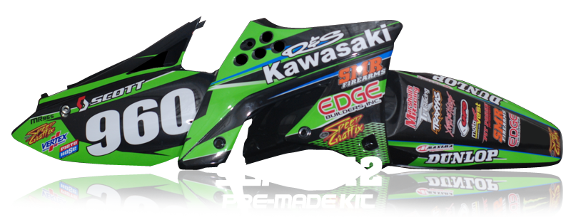 Motocross Decals Super-12 Pre-Made Motocross Graphics Kit
